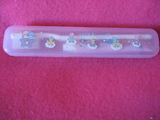 Sanrio LITTLE TWIN STARS TOOTHBRUSH SET IN CASE VINTAGE  1976 NOS