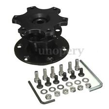 Car Black Steering Wheel Quick Release Hub Racing Adapter Snap Off Boss Kit