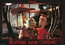TIM BURTON THE  NIGHTMARE BEFORE CHRISTMAS 1993 VINTAGE LOBBY CARD #7