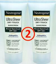 neutrogena (2 pack) SPF 100 + ULTRA SHEER dry-touch sunscreen exp 2018