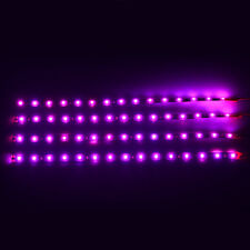 Pink 4pcs 30CM/15 LED Car Motors Truck Flexible Strip Light Waterproof 12V