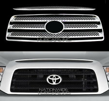 2007 08 2009 Toyota TUNDRA CHROME Snap On Grille Overlay Full Grill Cover Insert