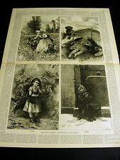 Adrien Marie FOUR SEASONS Children SPRING SUMMER FALL WINTER 1877 Large Print