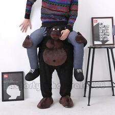 Hot Carry Me Gorilla Ride On Mascot Costume Funny Stag Party Fancy Dress Adult