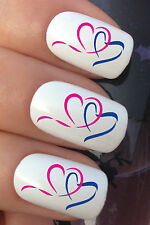 NAIL ART SET #659 x12 RACE FOR LIFE HEART LOGO WATER TRANSFER DECALS STICKERS