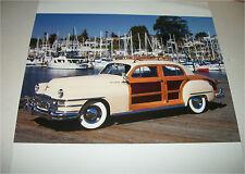 1947 Chrysler Town & Country 4 dr sedan car print (creme & wood)