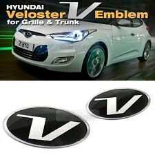 Carbon Emblem Front Grille + Rear Trunk for HYUNDAI 2011 - 2016 Veloster / Turbo