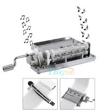 30 Note Hand Crank Music Box Movement + Puncher + 3 Strips Tape DIY Your Songs