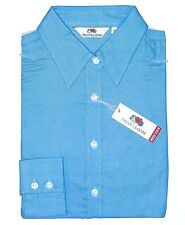 Fruit of the Loom Bluse lang XS blau Easy Care Lady-Fit Oxford Shirt Damen Hemd