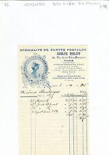 Paris XI ème - Belle Entête Art Nouveau Représentant en Cartes Postales de 1903