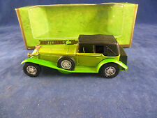 Rare Matchbox Yesteryear Y16 - 2 1928 Mercedes SS Coupe Two Tone Lime Green