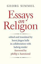 Essays on Religion by Georg Simmel (2013, Paperback)