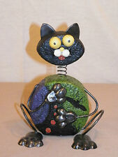 """NEW HALLOWEEN BIG EYED BOBBLE HEAD PICASSO KITTY CAT STATUE FIGURE 8.5"""" TALL"""
