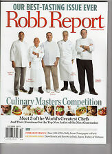 Robb Report - October 2012 - Culinary Masters Competition - NEW