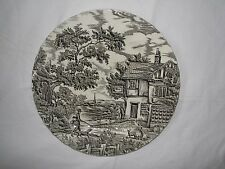 black transferware MYOTT THE HUNTER dinner plate 10""