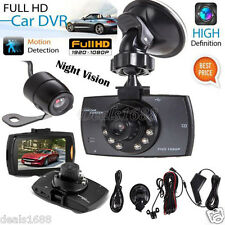 "2.7"" HD 1080P LCD Dual Lens Car Camera Video DVR Dash Cam Recorder Night Vision"