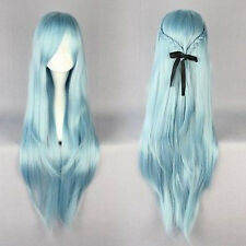 2014 New Fairy Dance Classical Blue 85cm Long Straight Anime Cosplay Wig