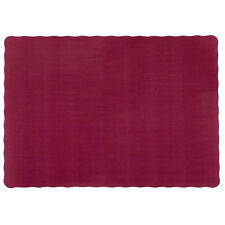 "25 Paper Placemats 10"" X 14"" Dinner Size 26 Colors - Burgundy"