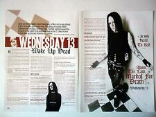 COUPURE DE PRESSE-CLIPPING :  WEDNESDAY 13 [2pages] 10/2006 Interview,Fang Bang