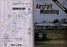 Scale Aircraft Modelling August 1984 SOPWITH PUP SCALE DRAWINGS Vacuform Models