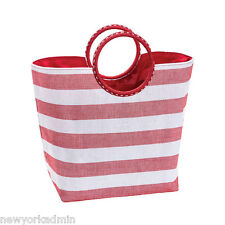 CRABTREE & EVELYN  STRIPED RESORT / BEACH TOTE BAG - NEW WITH TAGS