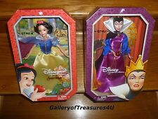 Disney Princess Signature Collection Villain EVIL QUEEN & SNOW WHITE Dolls 12""