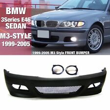 M3 Style Front Bumper With Grill Fog Cover For BMW 1999-2005 3 Series E46 SEDAN