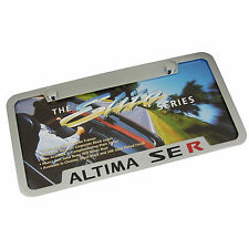 Nissan Altima Se R Chrome Brass Notched License Plate Frame