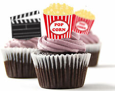 ✿ 24 Edible Rice Paper Cup Cake Toppings, Cake decs - Cinema ✿