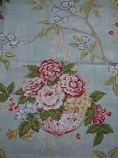 102cm SANDERSON Willoughby vintage linen union upholstery fabric remnant