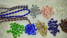 Joblot 12 strings mixed colour Tear drop shape Crystal beads new wholesale lot B