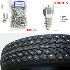 100X 9mm Car/Truck/ATV Screw Stud Snow Spikes Kit Wheel Tyres Snow Chains Studs