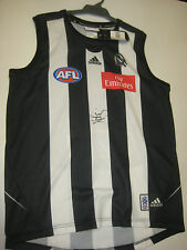 NATHAN BUCKLEY HAND SIGNED COLLINGWOOD JERSEY UNFRAMED + PHOTO PROOF & C.O.A