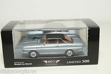 . NEO 43334 FORD TAUNUS 15M P6 COUPE METALLIC LIGHT BLUE MINT BOXED