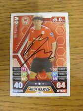2013/2014 Autograph: Cardiff City - Kim, Bo-Kyung [Hand Signed 'Topps Match Atta