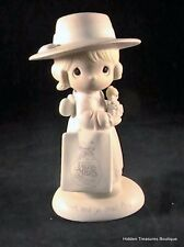 "Precious Moments Seek And Ye Shall Find"" Porcelain Figurine E-0105"