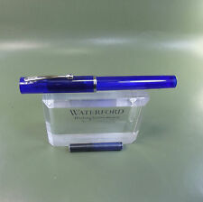 Sheaffer NoNonsense Transclucent Blue pen with fine calligraphy nib