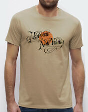 "NEIL YOUNG ""Harvest"" men`s T-shirt beige S-M-L-XL-2XL available"