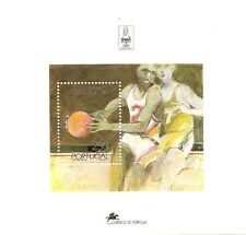 PORTUGAL-Souvenir Sheet nr.135-OLYMPIC GAMES -BARCELONA 1992-BASKET-Afinsa 2100