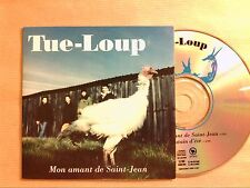 RARE CD PROMO 2 TITRES / TUE LOUP / MONT AMANT DE SAINT JEAN / TRES BON ETAT