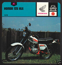 1978 HONDA 125 XLS Motorcycle Picture History CARD