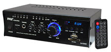PYLE pcau46a 2 x 120 WATT STEREO MINI POWER AMPLIFIER USB / SD AUX LETTORE & remoto