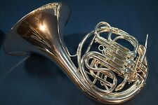"Beautiful 1927 King ""Schmidt Model""  Double French Horn with Case and Mouthpiece"