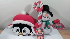 """Sugar Loaf Toys Christmas Penguin 8"""" And Snowman 12"""" Plush 2012 And 2013 NWT"""