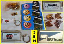 IBM BESTeam brooch keychain (Pentium Intel Inside sticker key spilla portachiavi