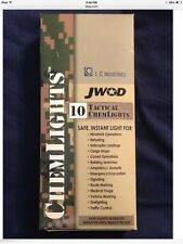"New in Box Cyalume ChemLight Military Chemical Light Sticks  6"" 12 Hour  asst."