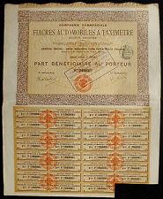 Frankreich Compagnie Fiacres Automobiles a Taximetre Anteil 1907 Auto