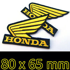2 x HONDA Wing Embroidered Advertising Iron on Patch Motorcycle Racing MotoGP