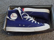Vintage Pro Keds NAVY BLUE  HI Top Men's Sneaker Shoes size 9 1/2  Excellent