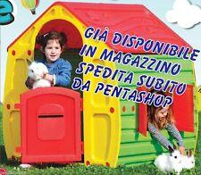 CASETTA DA GIARDINO IN RESINA TERMO PLASTICA PER GIOCO BAMBINI CM 102X90X109H